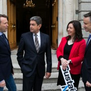 Pictured are Wayne Byrne, OxyMem; Fintan Whelan; Aideen O'Hora, Sustainable Nation; and Elliott Griffin, BVP Investments.              Picture by Shane O'Neill Photography.